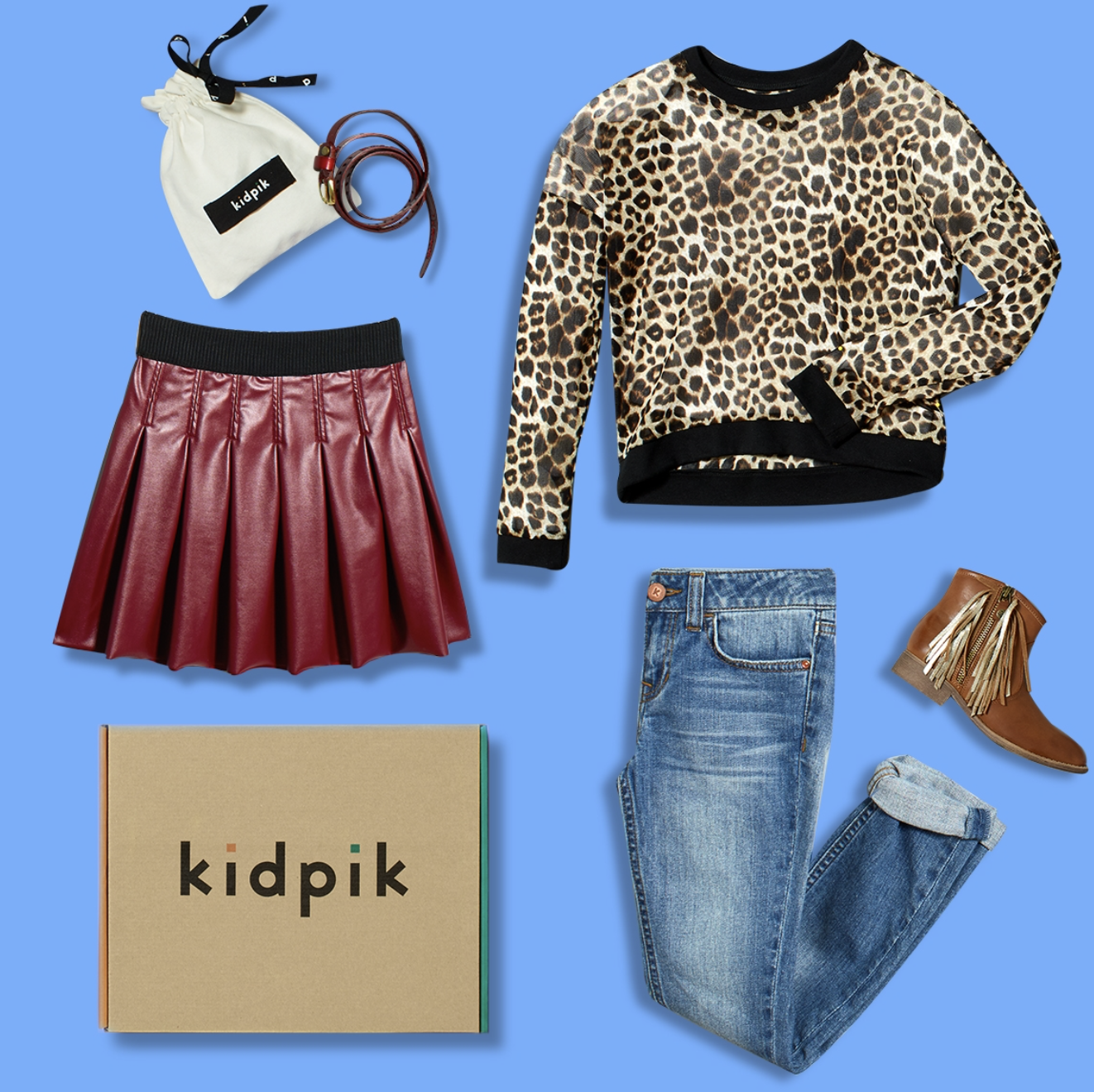 Kidpik Subscription Box with Leopard