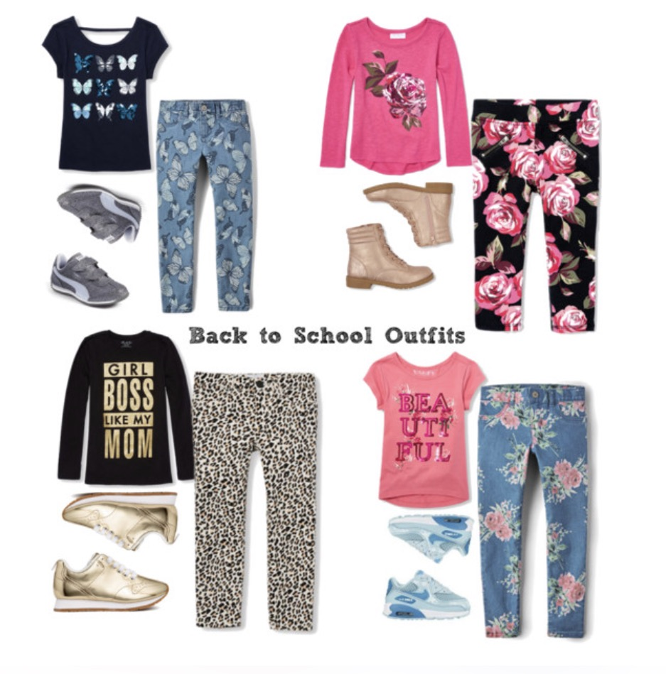 Children's Place girls outfits