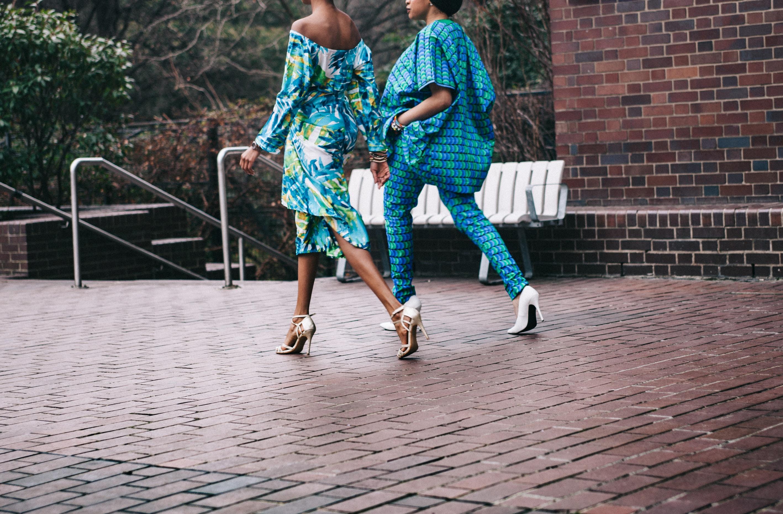 black girls walking