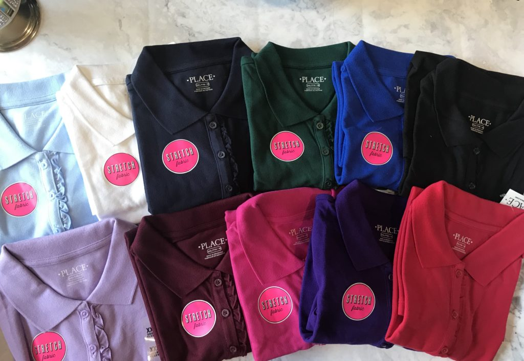 Polo Shirts for Girls. Children's Place Back to School Shopping Haul