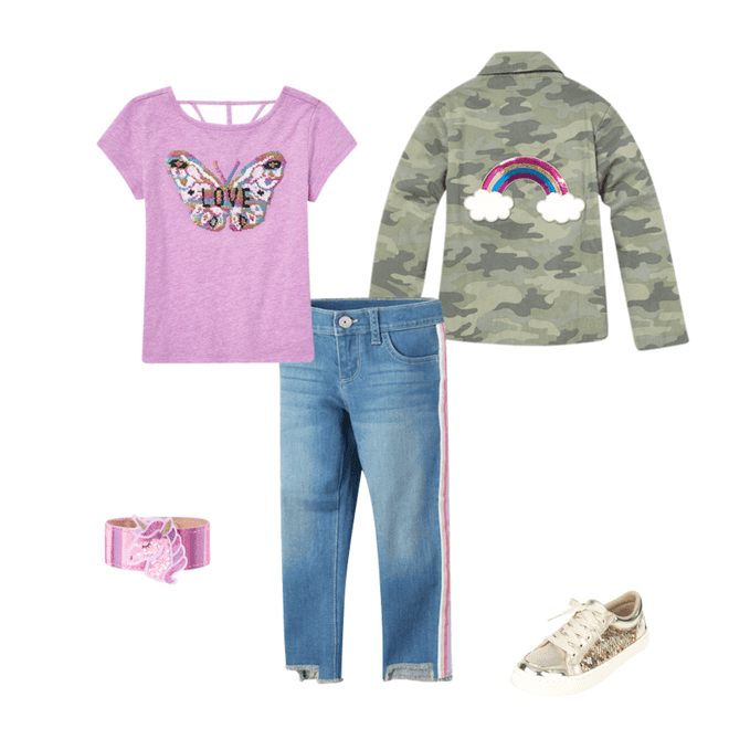 Camo Jacket for Girls. Children's Place Back to School Shopping Haul